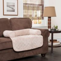 Innovative Textile Solutions Large Microfiber Waterproof Chair Protector with Bolster in Cream