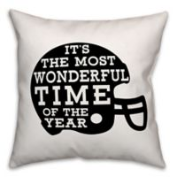 Designs Direct Football Helmet Square Throw Pillow in Black
