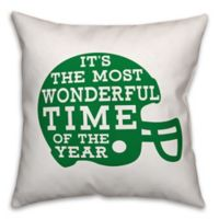 Designs Direct Football Helmet Square Throw Pillow in Green