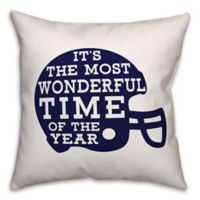 Designs Direct Football Helmet Square Throw Pillow in Navy