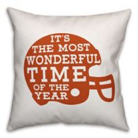 Designs Direct Football Helmet Square Throw Pillow in Orange