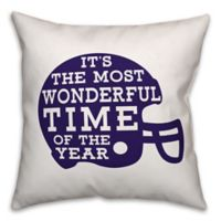 Designs Direct Football Helmet Square Throw Pillow in Purple