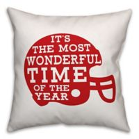 Designs Direct Football Helmet Square Throw Pillow in Red