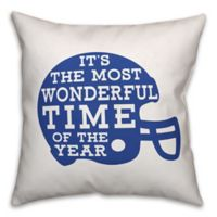 Designs Direct Football Helmet Square Throw Pillow in Blue