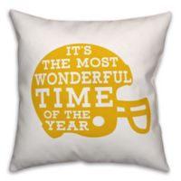 Designs Direct Football Helmet Square Throw Pillow in Yellow