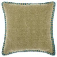 Mina Victory by Nourison Stitched Square Throw Pillow in Green