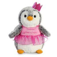 Aurora® Pom Pom Penguin One Year Birthday Plush Toy