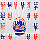 "MLB New York Mets 72"" x 72"" PVC Frosted Shower Curtain"