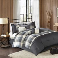 Madison Park Ridge Herringbone 7-Piece California King Comforter Set in Grey