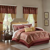 Madison Park Brystol 24-Piece Queen Comforter Set in Red
