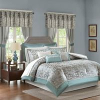 Madison Park Brystol 24-Piece Queen Comforter Set in Teal