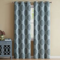 VCNY Home Gianne 96-Inch Grommet Top Window Curtain Panel Pair in Indigo