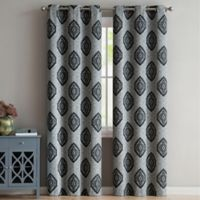 VCNY Home Gianne 96-Inch Grommet Top Window Curtain Panel Pair in Charcoal