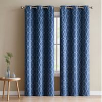 VCNY Home Odyssey 84-Inch Grommet Top Room Darkening Window Curtain Panel Pair in Navy