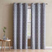 VCNY Home Odyssey 96-Inch Grommet Top Room Darkening Window Curtain Panel Pair in Charcoal