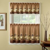 Wines 24-Inch Kitchen Window Curtain Tiers and Valance in Multi