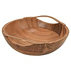 Artisanal Kitchen Supply® Acacia Wood and Metal Fruit Bowl
