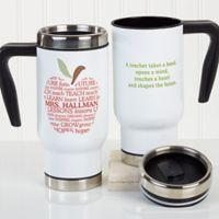 Apple Scroll Teacher 14 oz. Commuter Travel Mug