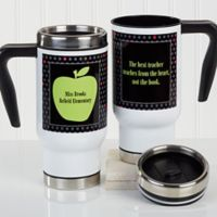 Teacher's Green Apple 14 oz. Commuter Travel Mug
