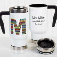 Crayon Letter Teacher 14 oz. Travel Mug