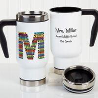 Crayon Letter Teacher 14 oz. Travel Mug