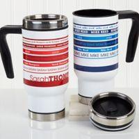 Signature Stripe 14 oz. Commuter Travel Mug