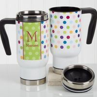 Polka Dot 14 oz. Commuter Travel Mug