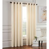 Garland 108-Inch Lined Grommet Top Room Darkening Window Curtain Panel in Ivory