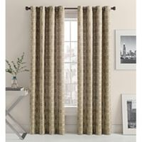 Mosaic Hexa Lined 108-Inch Light-Filtering Grommet Top Window Curtain Panel in Oat