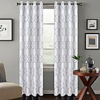 Colordrift Mandy 108-Inch Grommet Top Room-Darkening Window Curtain Panel in White