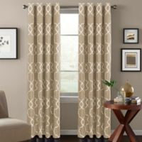 Colordrift Mandy 63-Inch Grommet Top Room-Darkening Window Curtain Panel in Khaki