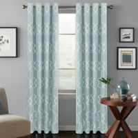 Colordrift Mandy 84-Inch Grommet Top Room-Darkening Window Curtain Panel in Spa