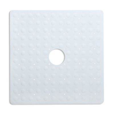 SlipX Solutions Square Safety Shower Mat In White