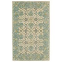 Kaleen Weathered Laft Indoor/Outdoor 2-Foot x 3-Foot Rug in Teal