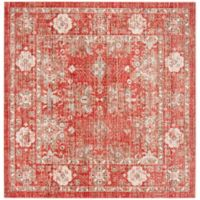 Safavieh Windsor 6-Foot x 6-Foot Sascha Rug in Red