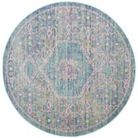 Safavieh Windsor Samara 6-Foot Round Area Rug in Spa