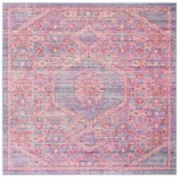 Safavieh Windsor Samara 6-Foot Square Area Rug in Lavender