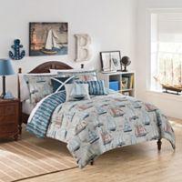 Waverly Kids Set Sail 3-Piece Reversible Full Comforter Set in Blue