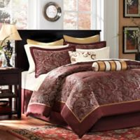 Madison Park Aubrey Reversible 12-Piece California King Comforter Set in Red