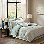 Madison Park Roslynn 8-Piece King Comforter Set in Aqua