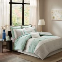 Madison Park Roslynn 8-Piece Queen Comforter Set in Aqua