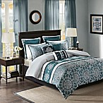 Madison Park Wesson 9-Piece Queen Comforter Set in Teal