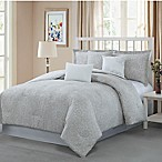 Studio 17 Napoli Reversible King Comforter Set in Taupe/White