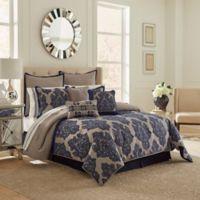 Vue Ma Maison Monte Carlo 13-Piece Queen Comforter Set in Navy