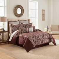 Vue Ma Maison Edinburgh 13-Piece Queen Comforter Set in Plum