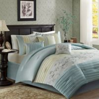 Madison Park Serene 7-Piece King Comforter Set in Aqua