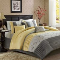 Madison Park Serene 7-Piece King Comforter Set in Yellow