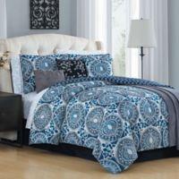 Avondale Manor Emeline 12-Piece Queen Comforter Set in Teal