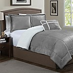 Micro Sherpa 3-Piece Twin Comforter Set in Grey