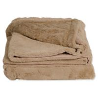 Cariloha® Plush Throw Blanket in Oatmeal
